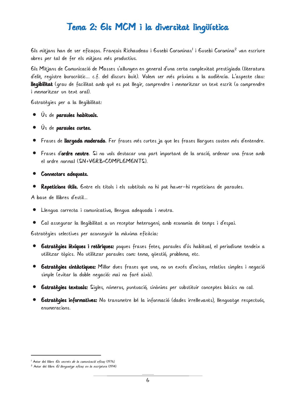 Els Mcm I La Diversitat Lingüística 103867 Uab Studocu