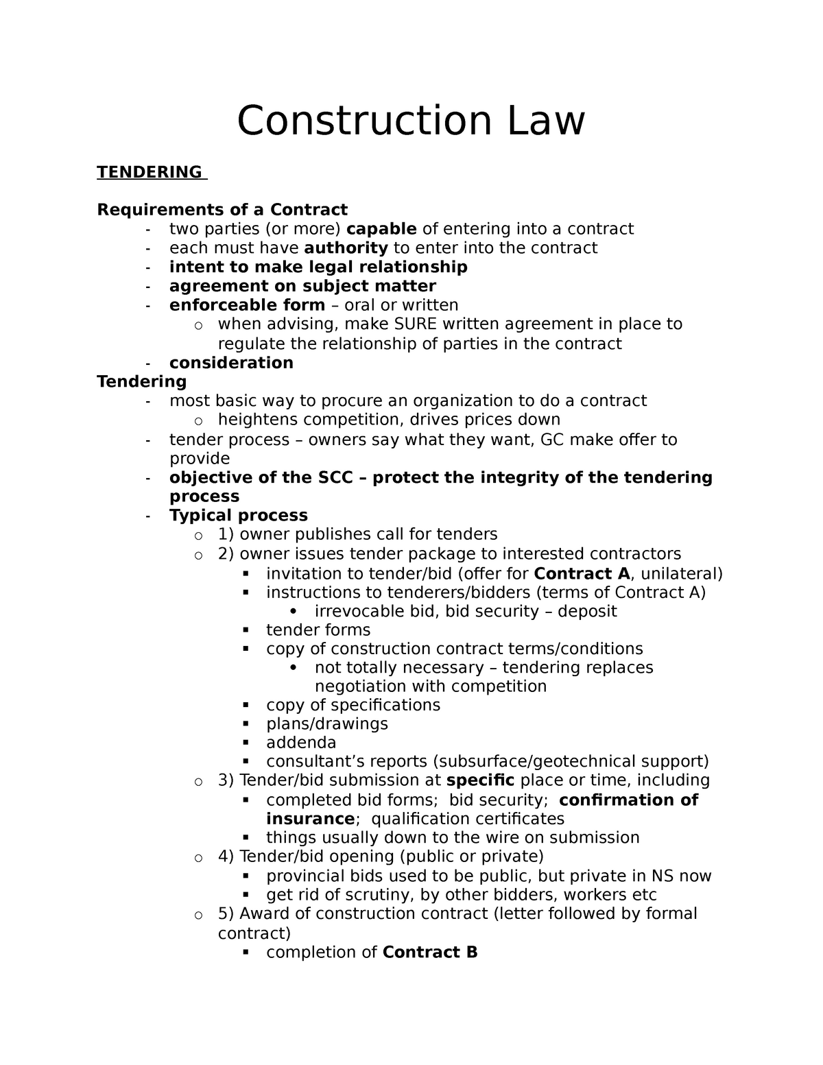 Construction Law-2015-Gibson - LAWS 2218 - Dal - StuDocu