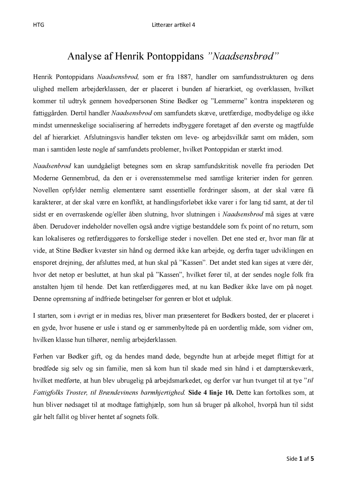 hvordan laver man en litterær artikel