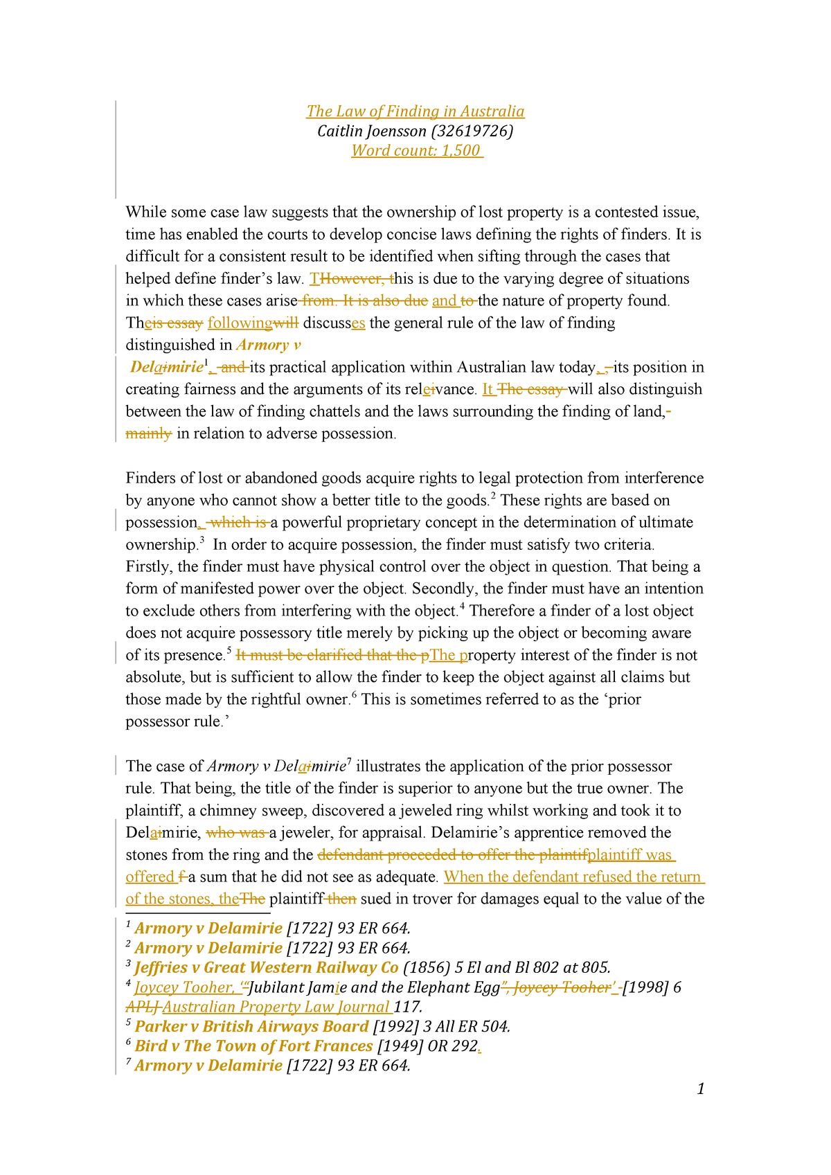 Property law essay