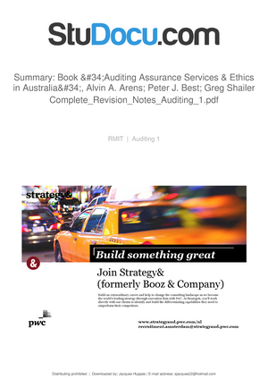 Summary book auditing assurance services ethics in australia summary book auditing assurance services ethics in australia alvin a arens peter j best greg shailer auditing and assurance services fandeluxe Gallery