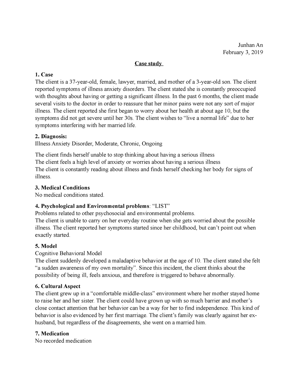Anxiety case study example maintenance superintendent cover letter