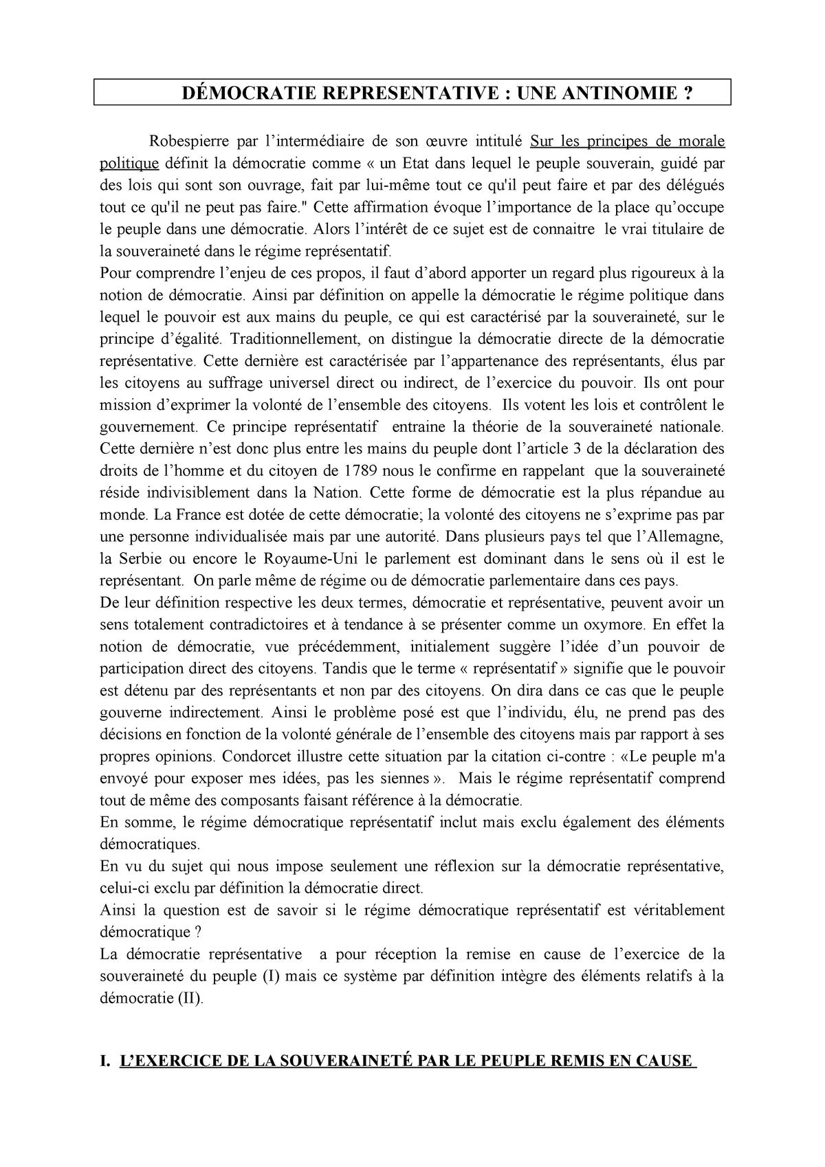 Dissertation democratie directe democratie semi directe