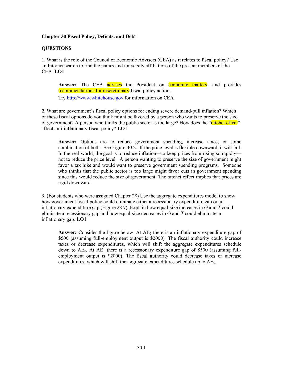 Chap030-Solutions - Principles of Macroeconomics: Solutions