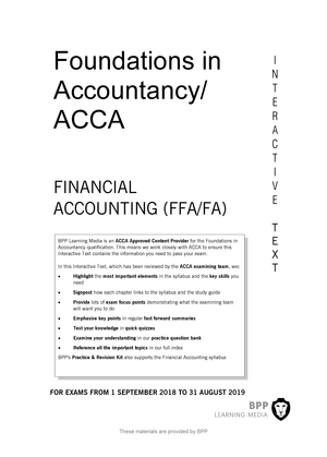 FIA Finanial Accounting (FA) BPP Interctive Text 2019 - StuDocu