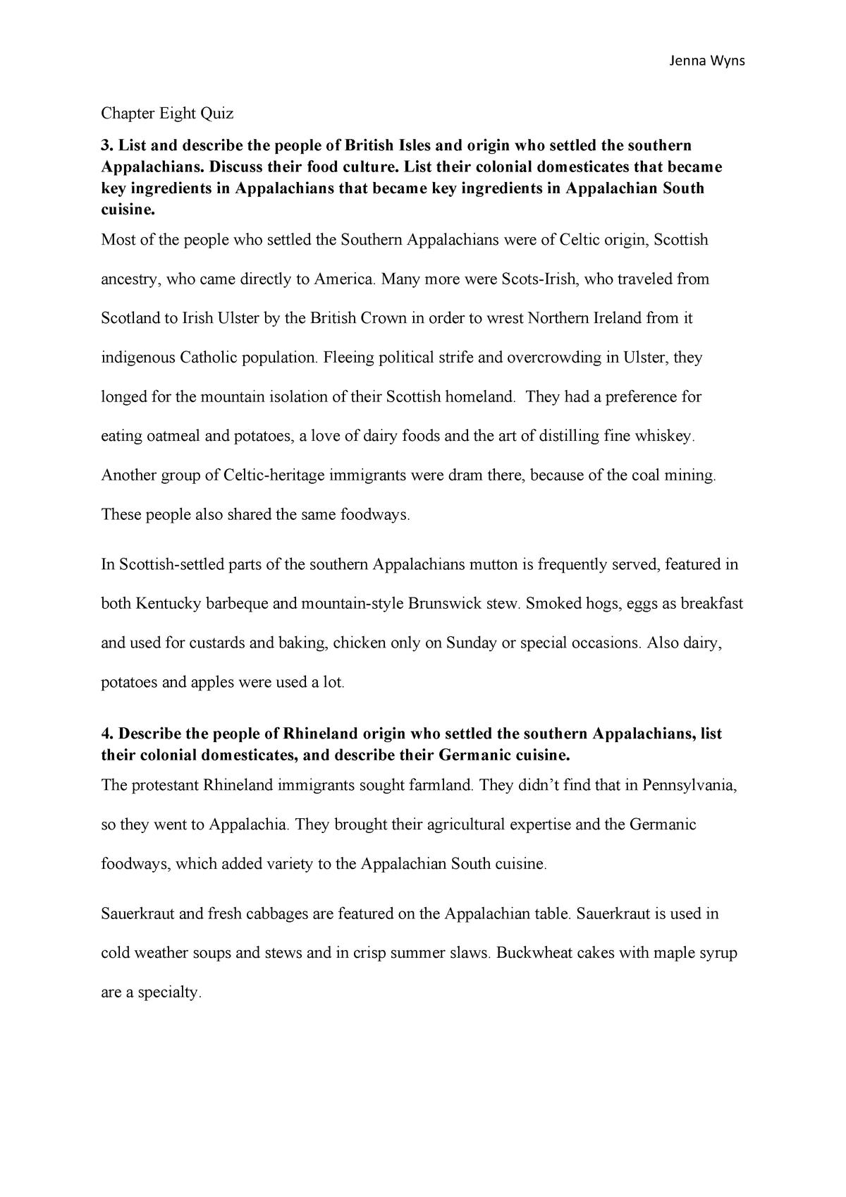 Chapter 8 Quiz - weakly quiz solution - DTC 358: Food