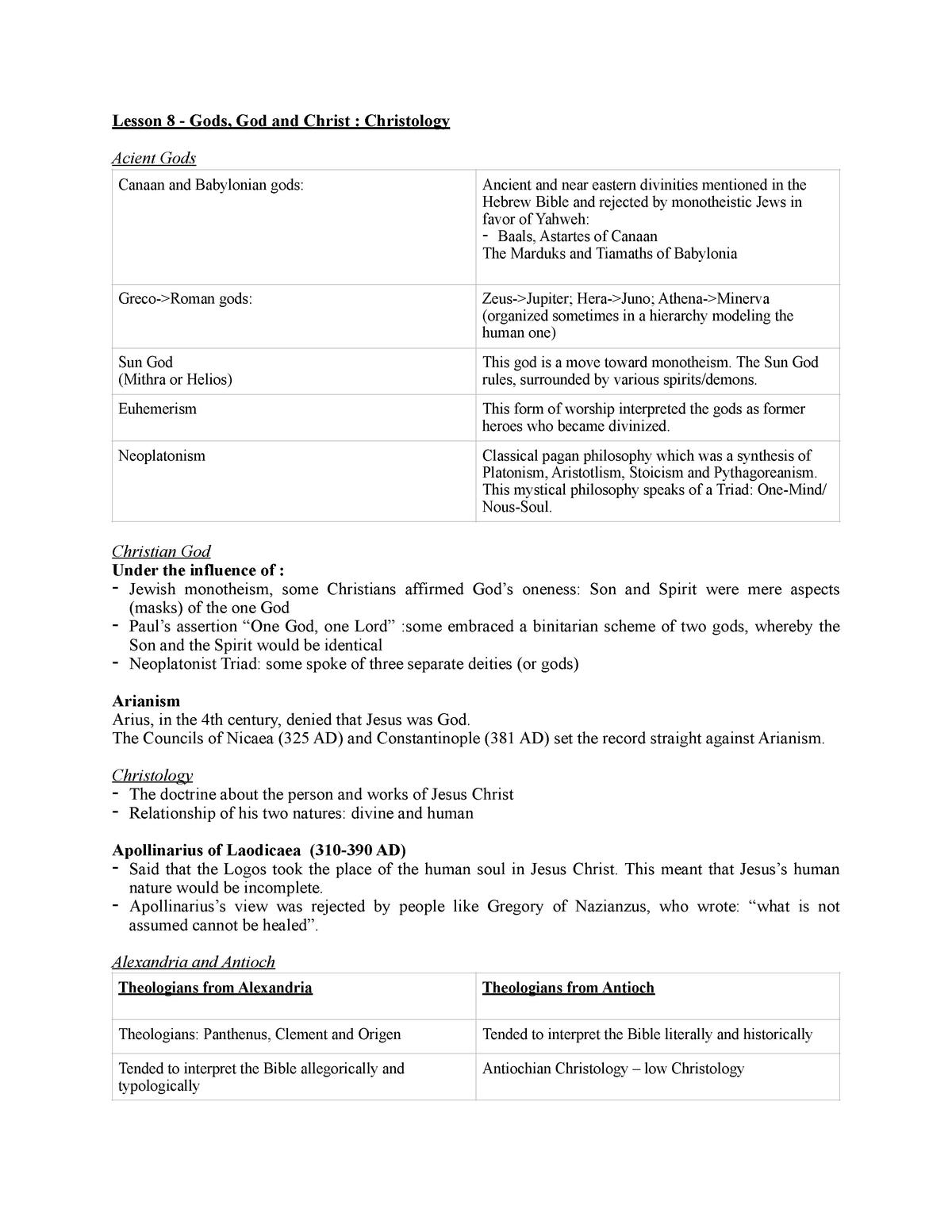 Lesson 8 - Lecture notes 8 - THEO 206 - Concordia - StuDocu