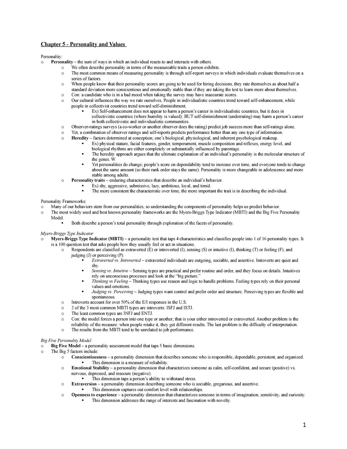 Chapter 5 Study Guide - BA 350 - StuDocu