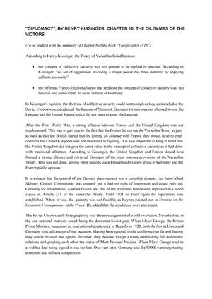 kissinger diplomacy chapter summary