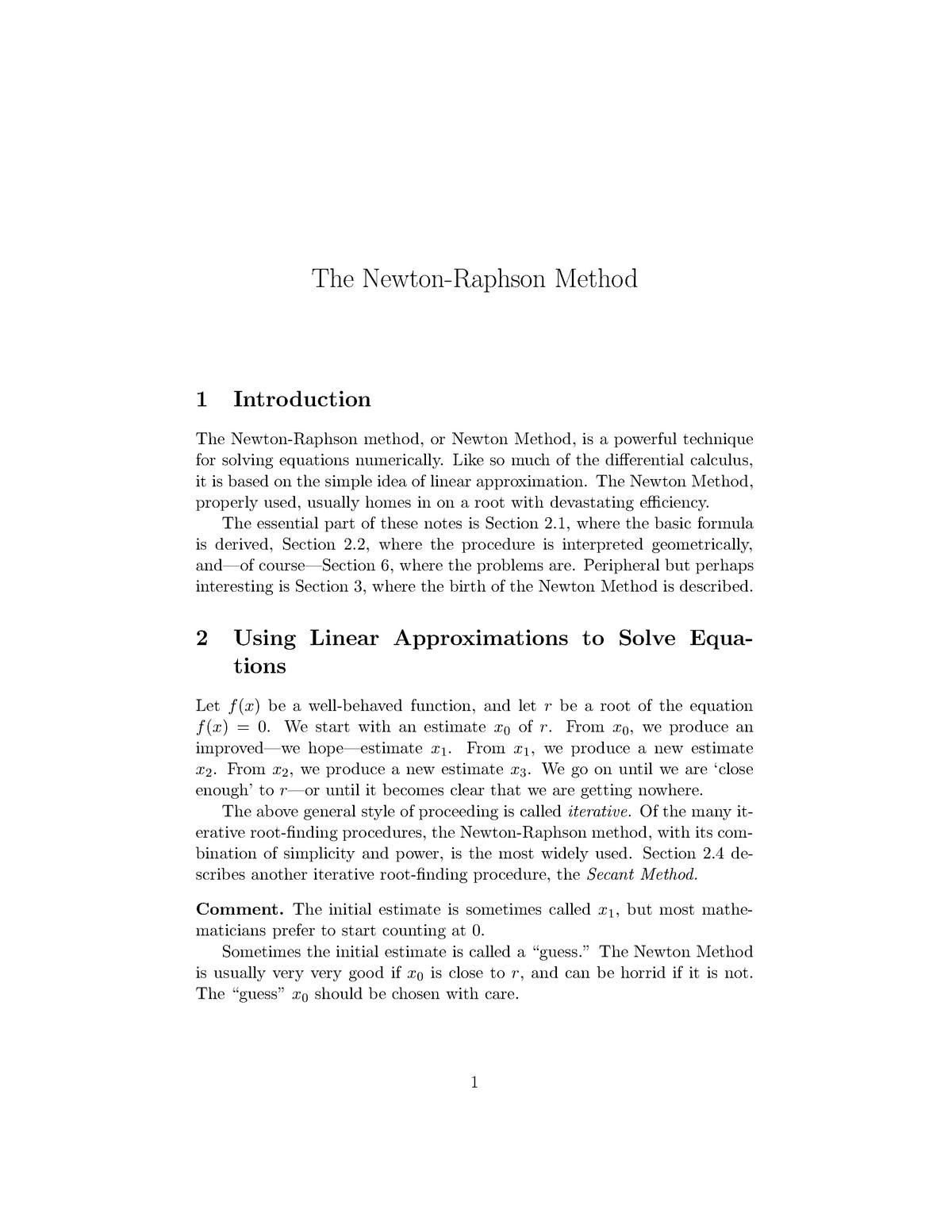 Newton-raphson method - MAST30012 Discrete Mathematics - StuDocu