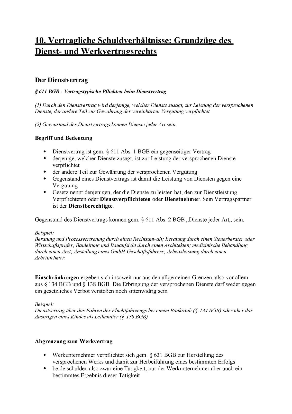 Werkvertrag Und Dienstvertrag Arbeitsvertrag 2021 8