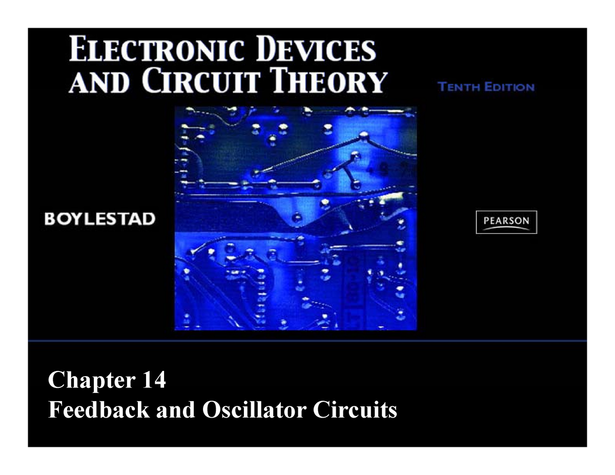 Electronic Devices and Circuit Theory 10th Ed Boylestad Chapter 14