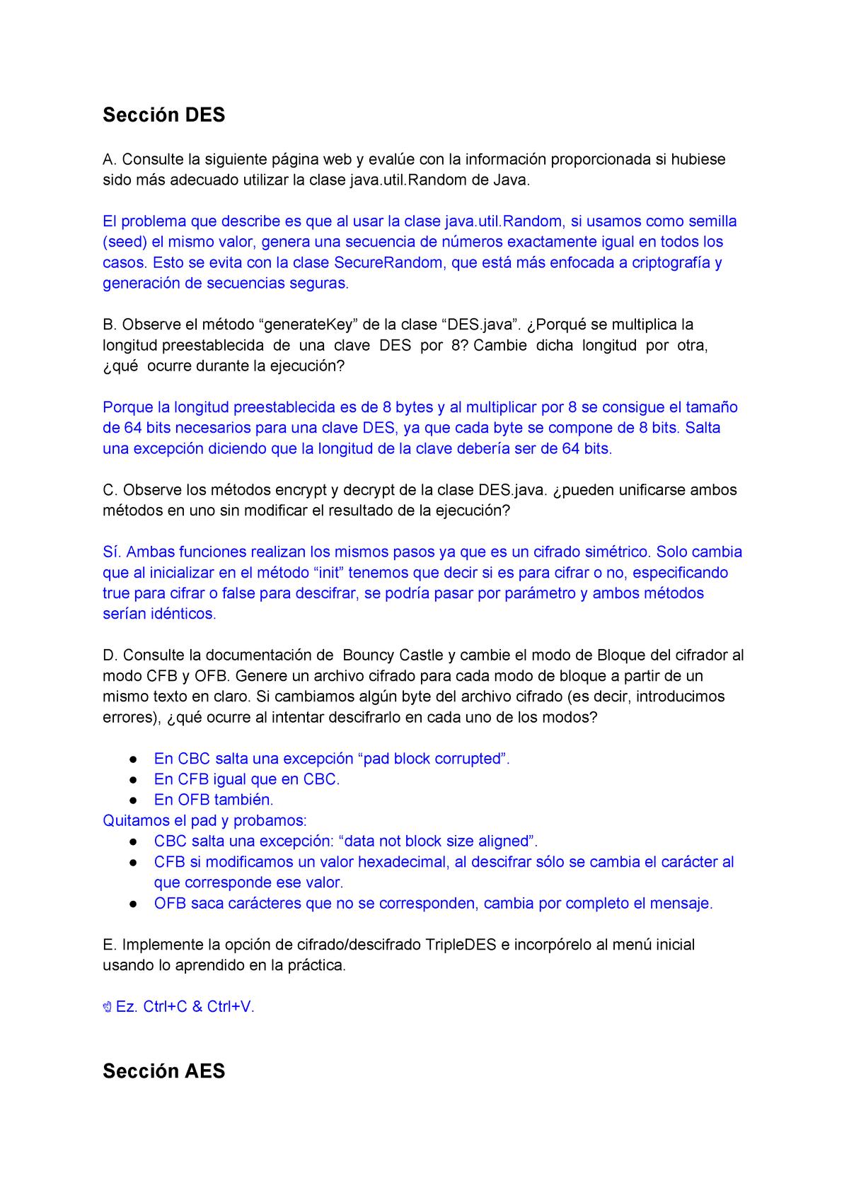 Crypto Java - 218 15973: Criptografía y Seguridad Informática - StuDocu