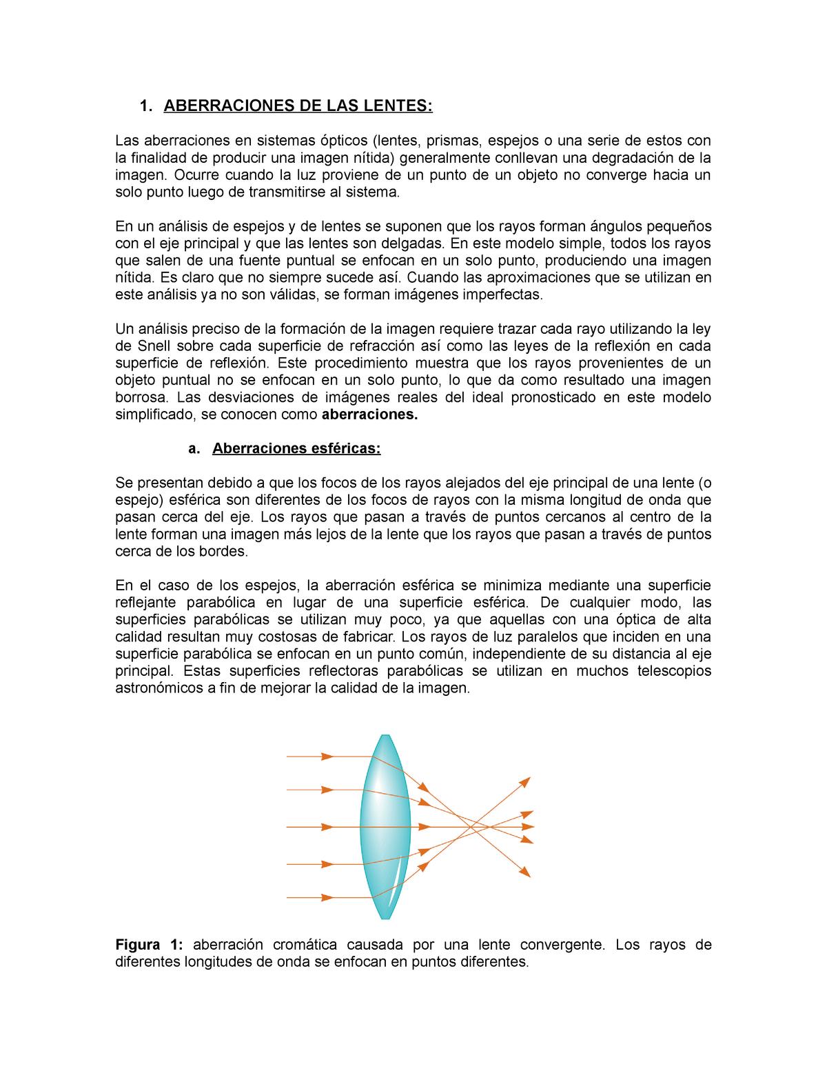 a3c4a09543 Aberraciones de las lentes - Quimica - StuDocu
