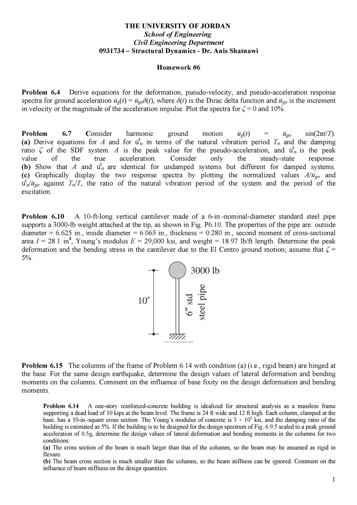 S-Dynamics-HW6 - HW6 - 0904222: Dynamics - StuDocu