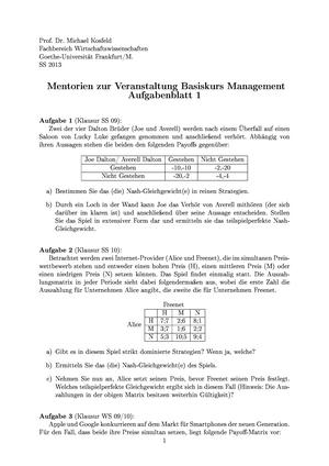 Management BMGT Uni Frankfurt StuDocu
