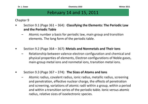 Summary chapter 9 the periodic table general chemistry i urtaz Image collections