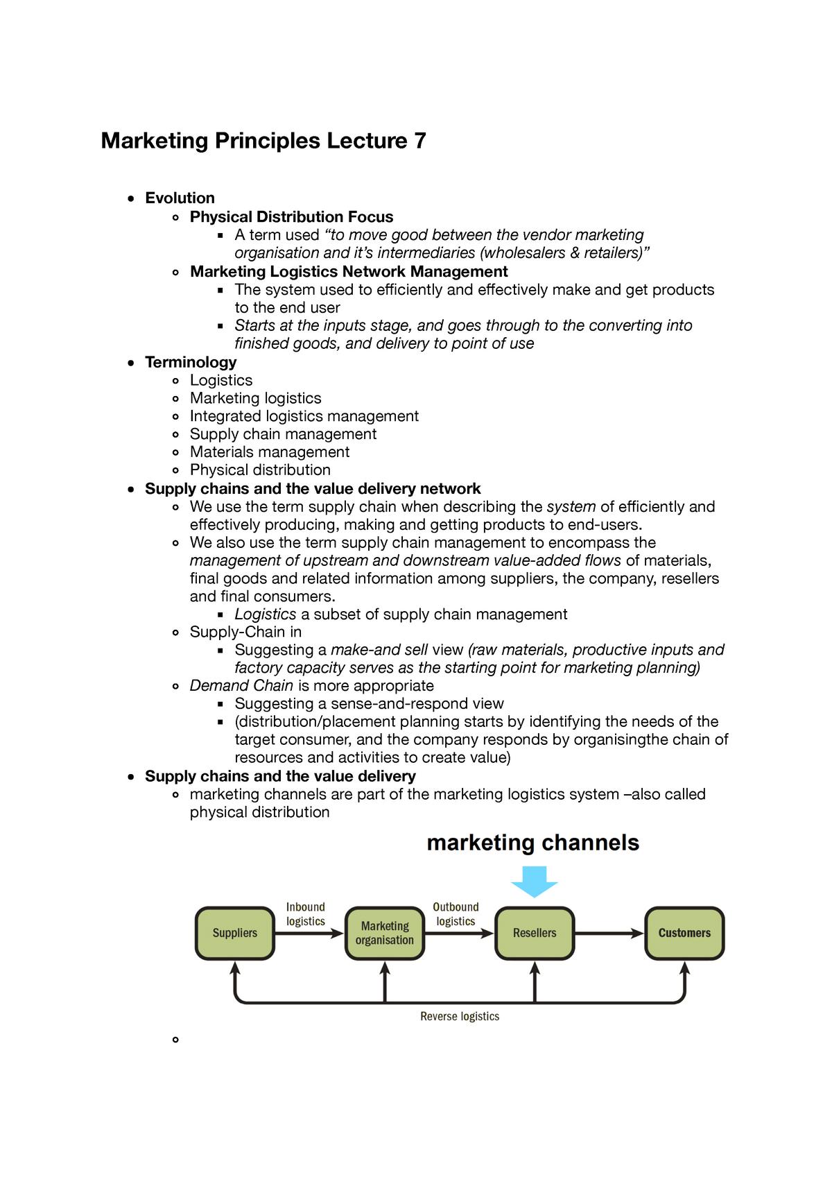 Marketing Lecture 7 - MKTG1025 - RMIT - StuDocu