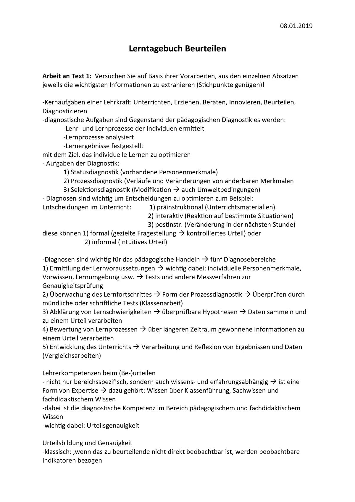 Lerntagebuch Und Portfolio In Der Schule 13