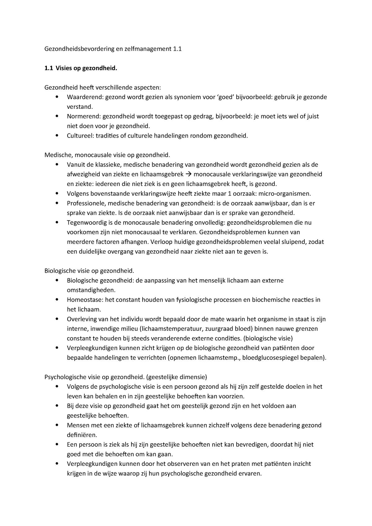 Gezondheidsbevordering 1 1 Casus Gestuurd Onderwijs Studeersnel