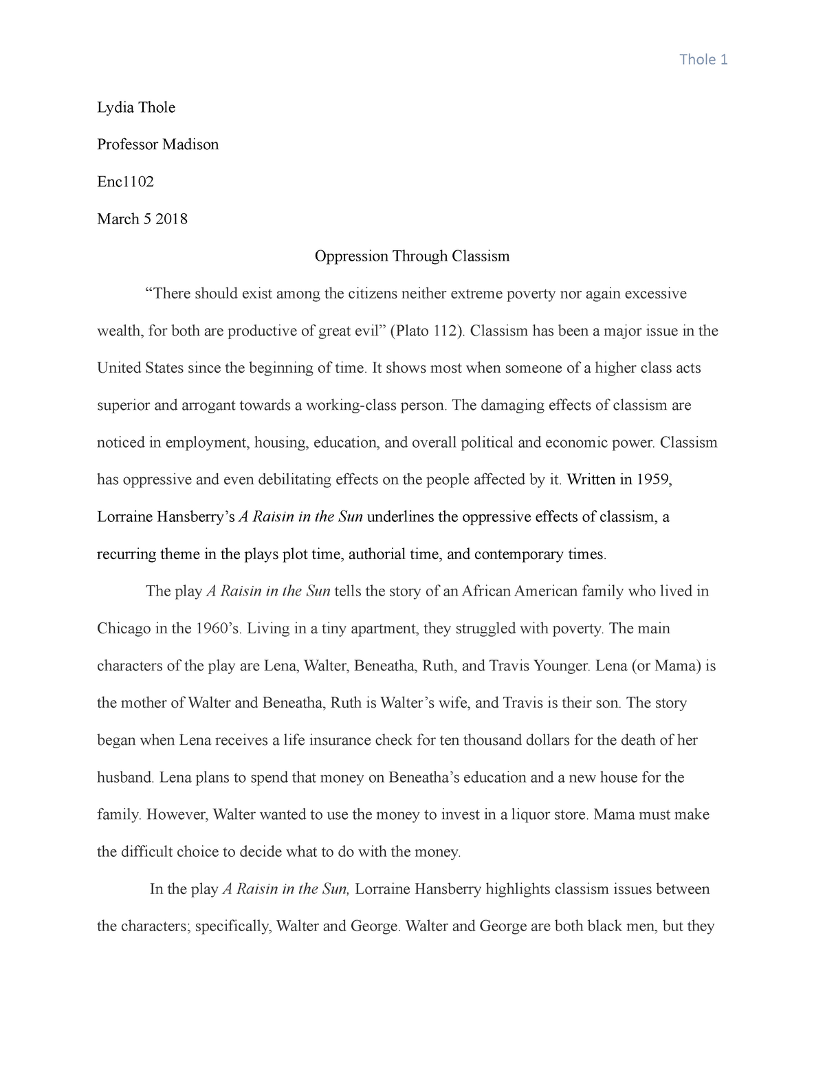 Classism essay streptomyces thesis