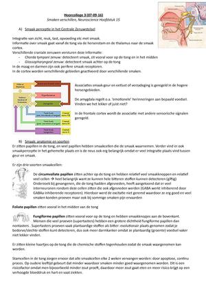 HC 3 smaak - Lecture notes 3 - 5102PETB6Y: Van Perceptie tot ...
