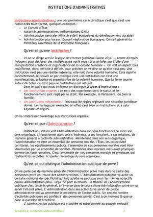 Institutions Administratives Ubo Studocu