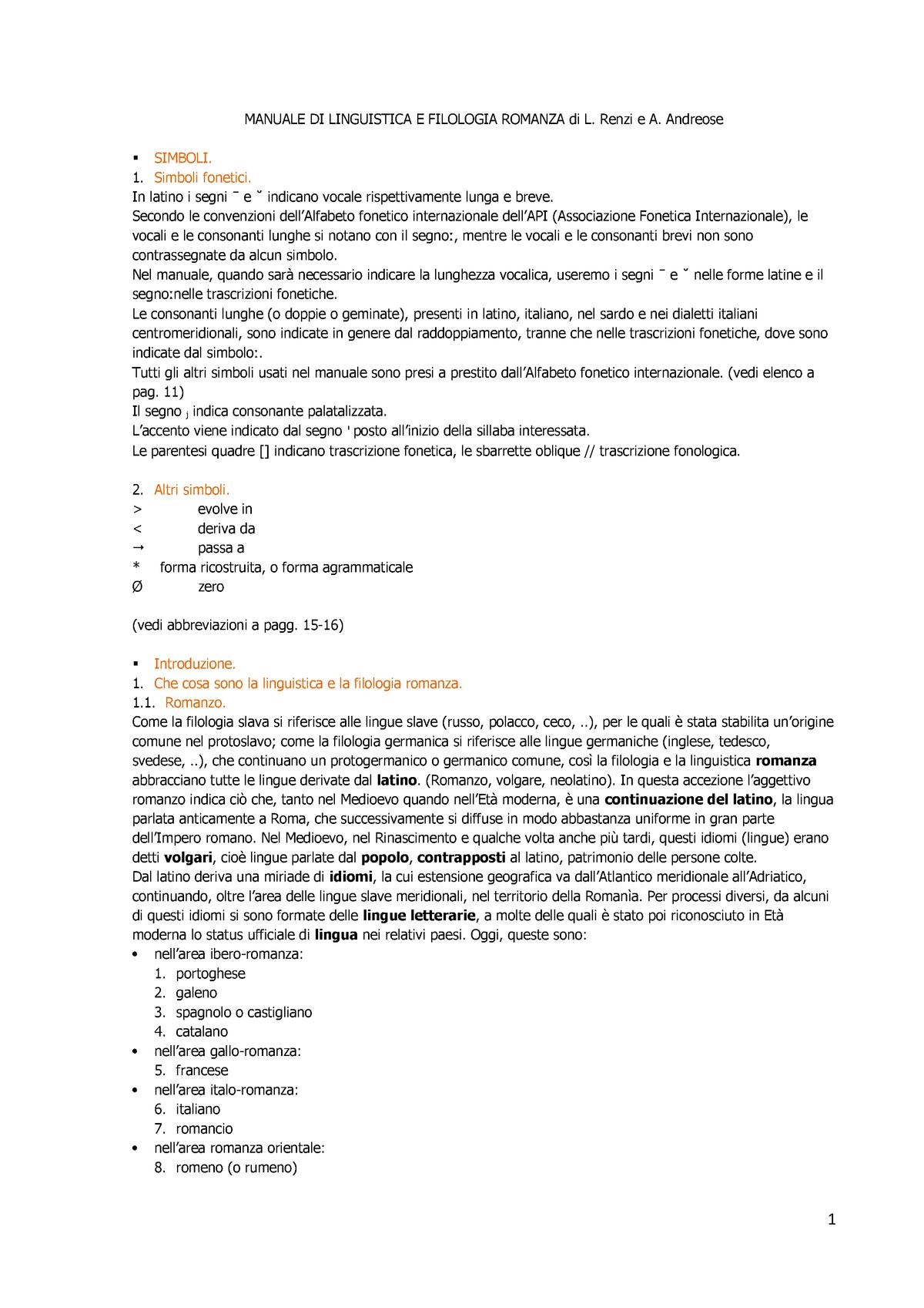 premium selection aa74e e97c9 Filologia romanza - riassunto per capitoli del libro - StuDocu