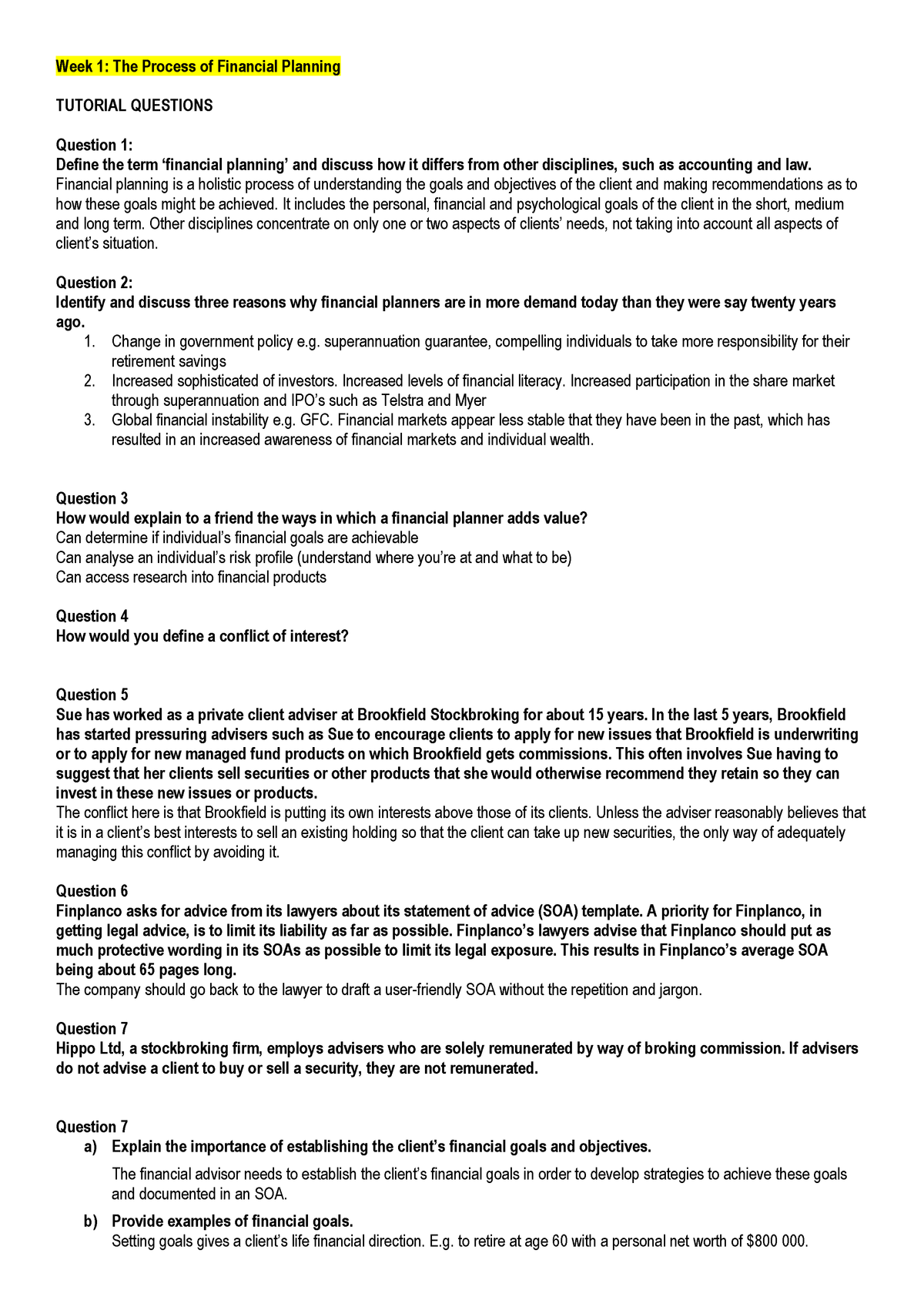 TUTE 1 (Autosaved) - tute - ACCT2287: Risk Insurance Social