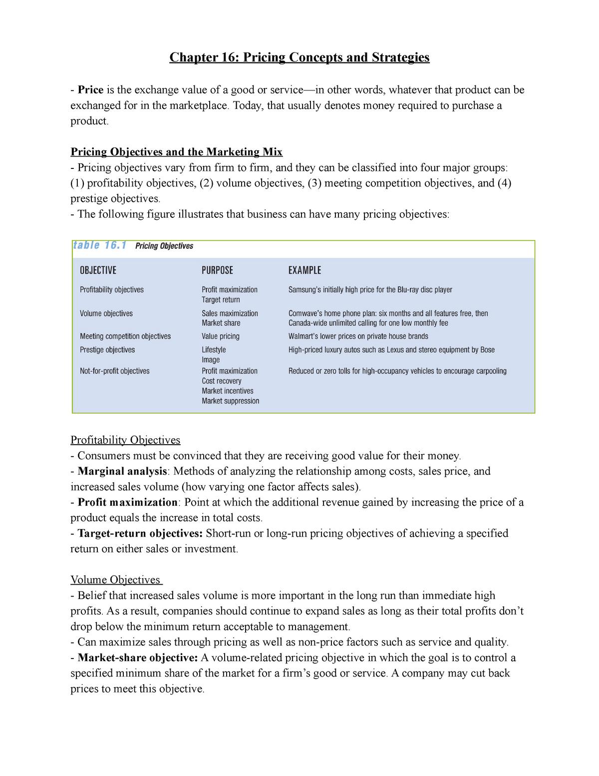 Adms 2200 chapter 16 - Summary Contemporary Marketing - StuDocu