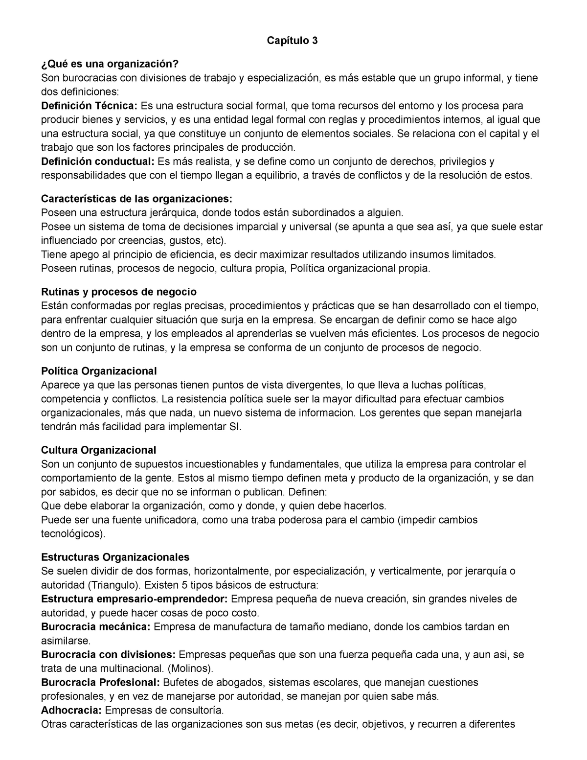 Capitulo 3 Cornaccia Resumen Management Information