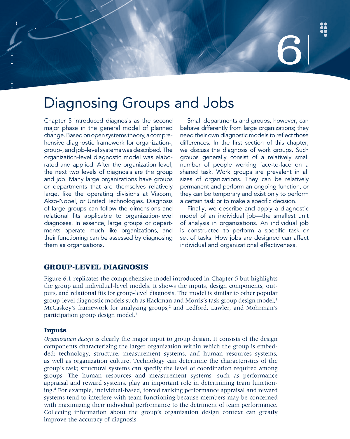 Chapter 06 Diagnosing Groups and Jobs - MGMT 416 - StuDocu
