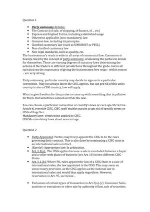 Tutorial work - Tutorial 1-4 - LAWS3328 : International