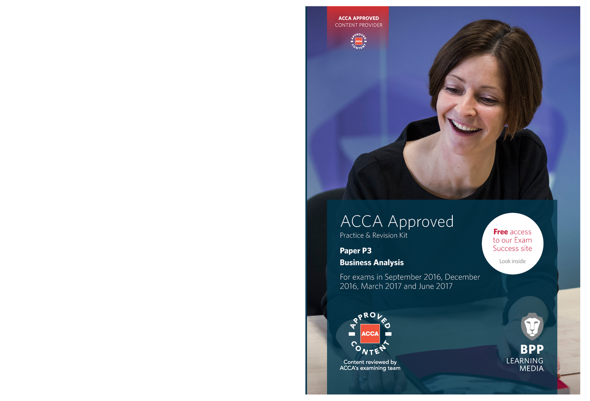 ACCA - P3 Business Analysis - Revision Kit 2016-2017 - - StuDocu