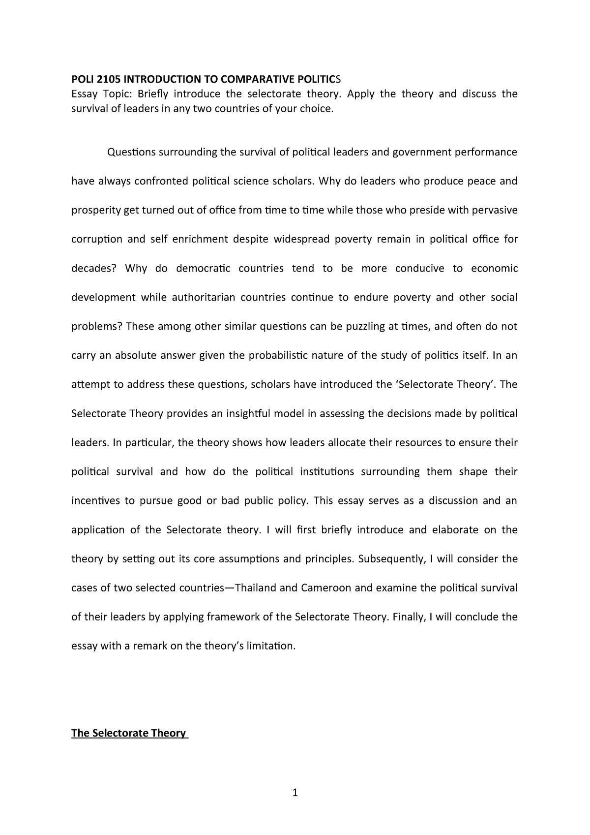 thailand essay conclusion