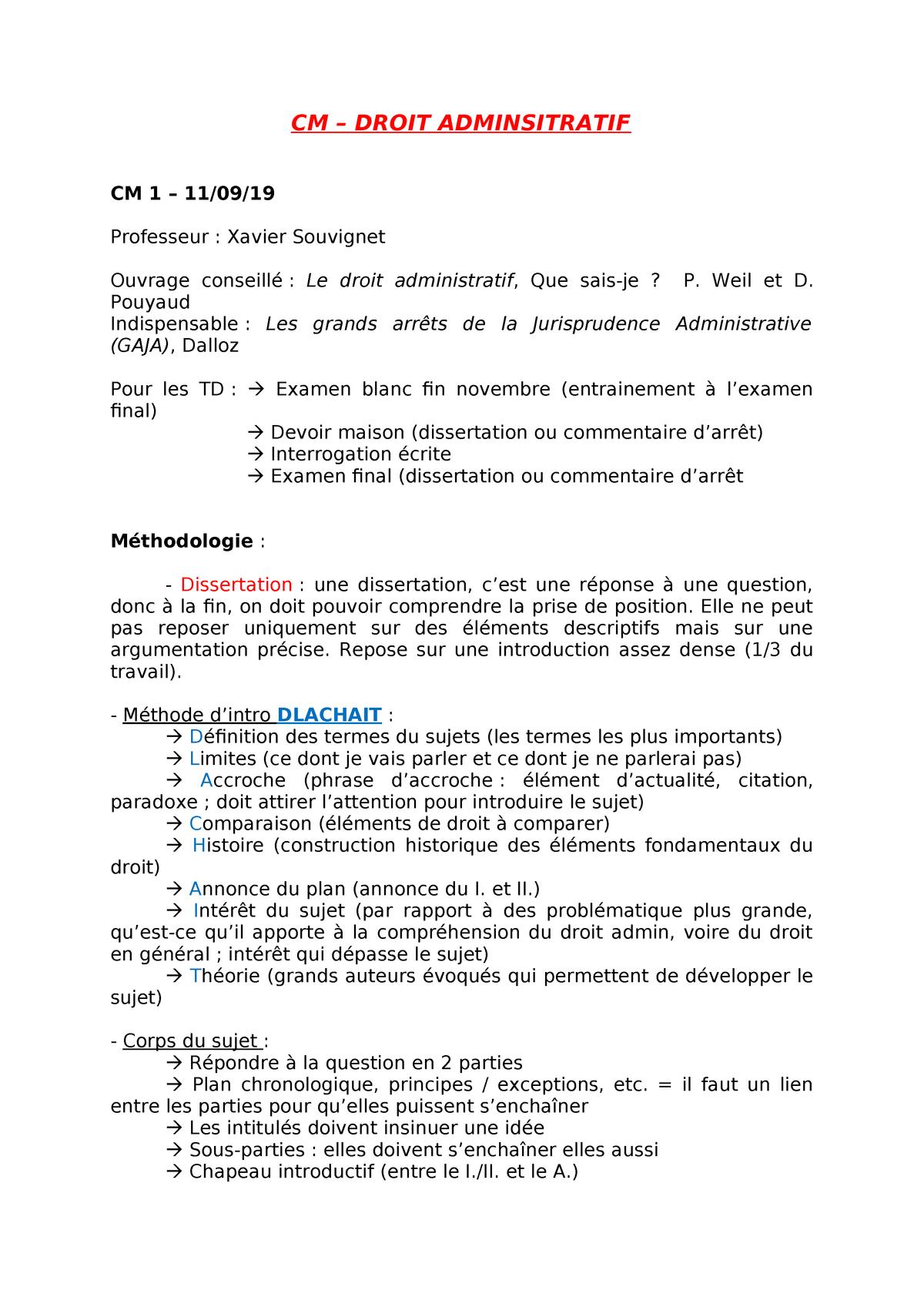 Dissertation droit administratif principe lgalit