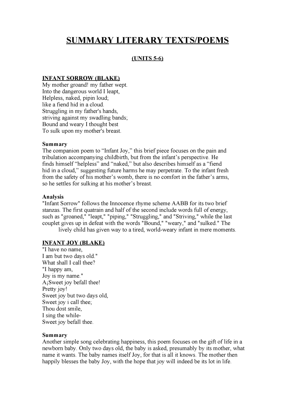 Resúmenes y Análisis Literary Texts - 23304146 - StuDocu