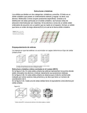 Estructuras Cristalinas Quimica General Uninorte Studocu