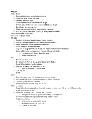 BBH final study guide - BB H 143: Drugs, Behavior, And