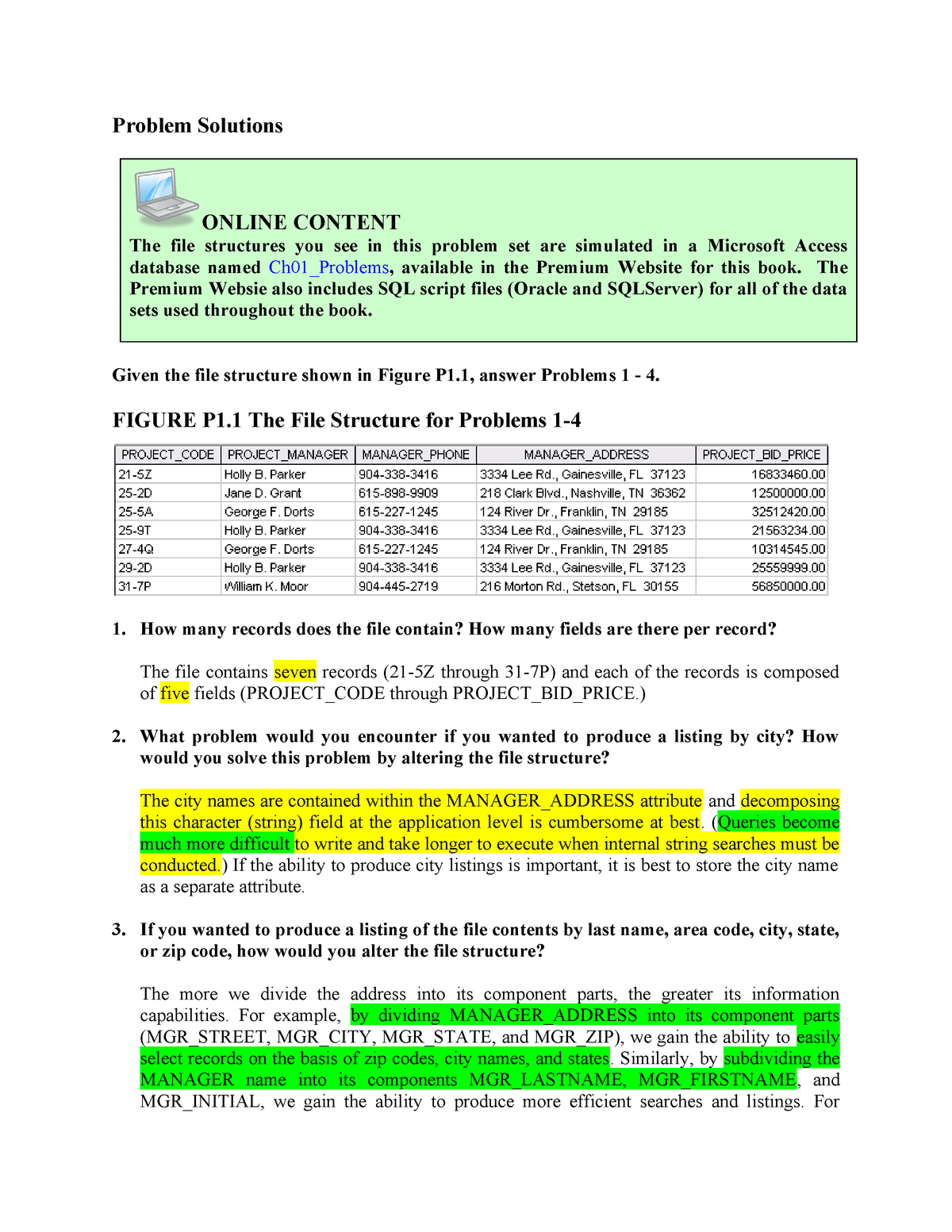 Prac 1 Akey - Solution manual Database Systems: Design
