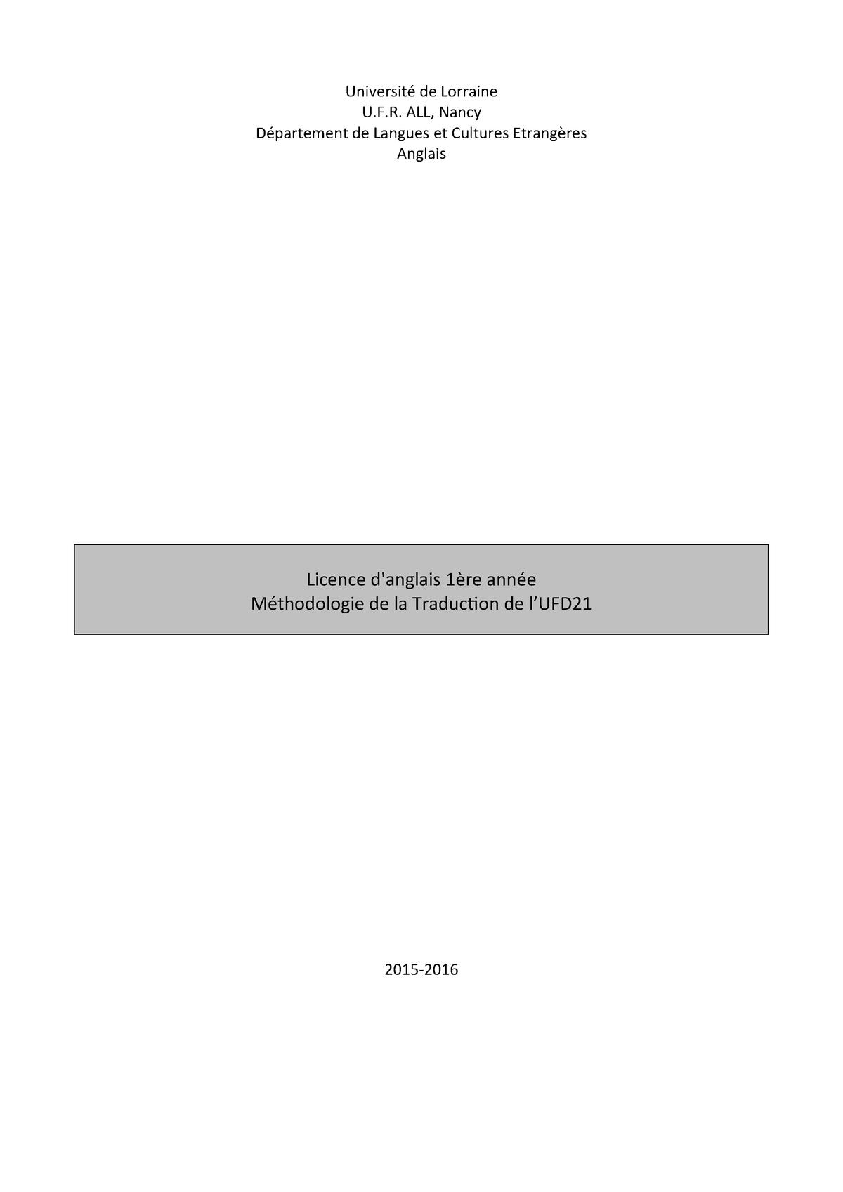 Course Traduction Studocu Studocu Anglais Langversion Traduction Langversion Traduction Anglais Course TKulF1J3c