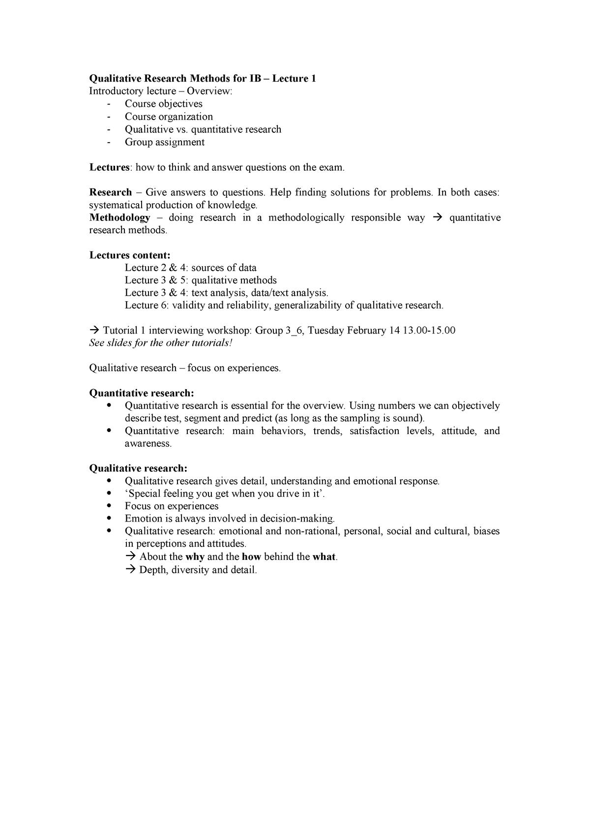 QRM lecture notes - College-aantekeningen 1-7 - EBB633B05