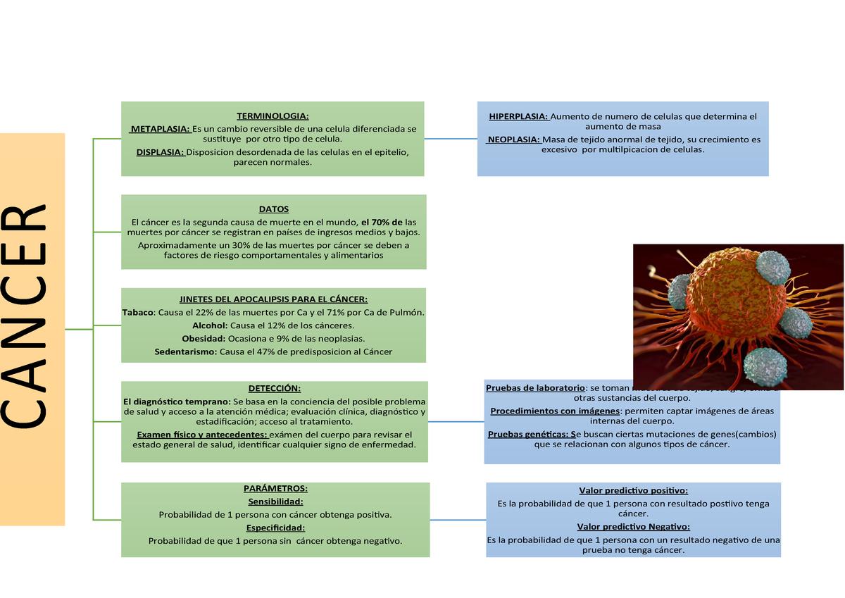 mapa mental del cancer de prostata