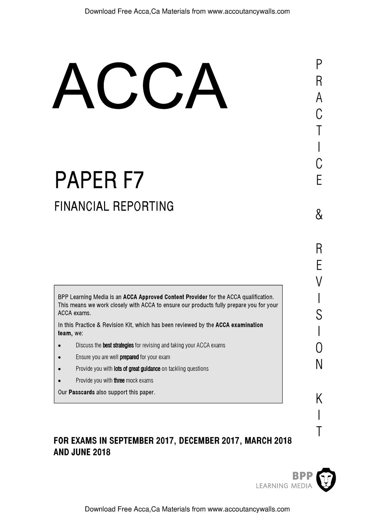 ACCA F7 - Financial Reporting Revision Kit 2017 - gem 302: Strategic