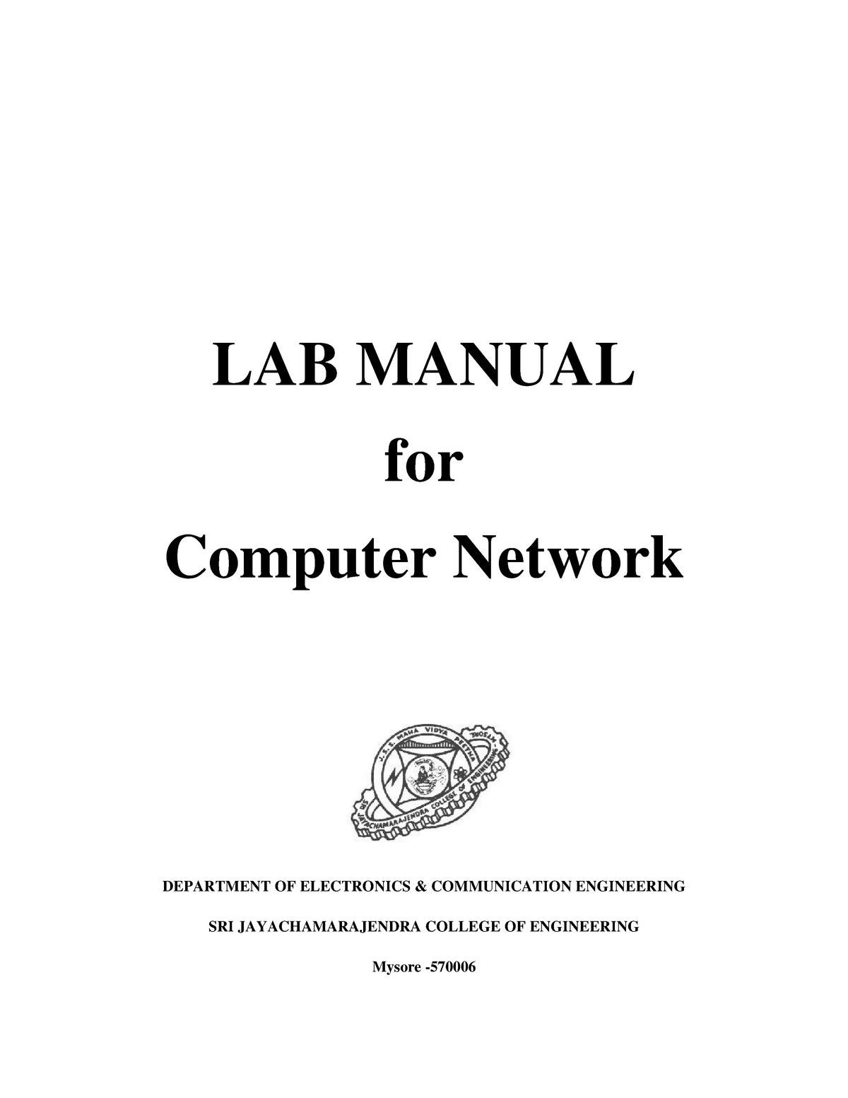 Ccna Lab Manual Computer Networks 2 12is62 Vtu Studocu