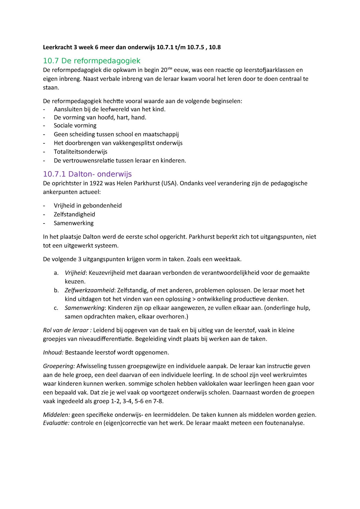3ed5f7412a0 Samenvatting Méér dan Onderwijs 18 Jan 2017 - StudeerSnel.nl
