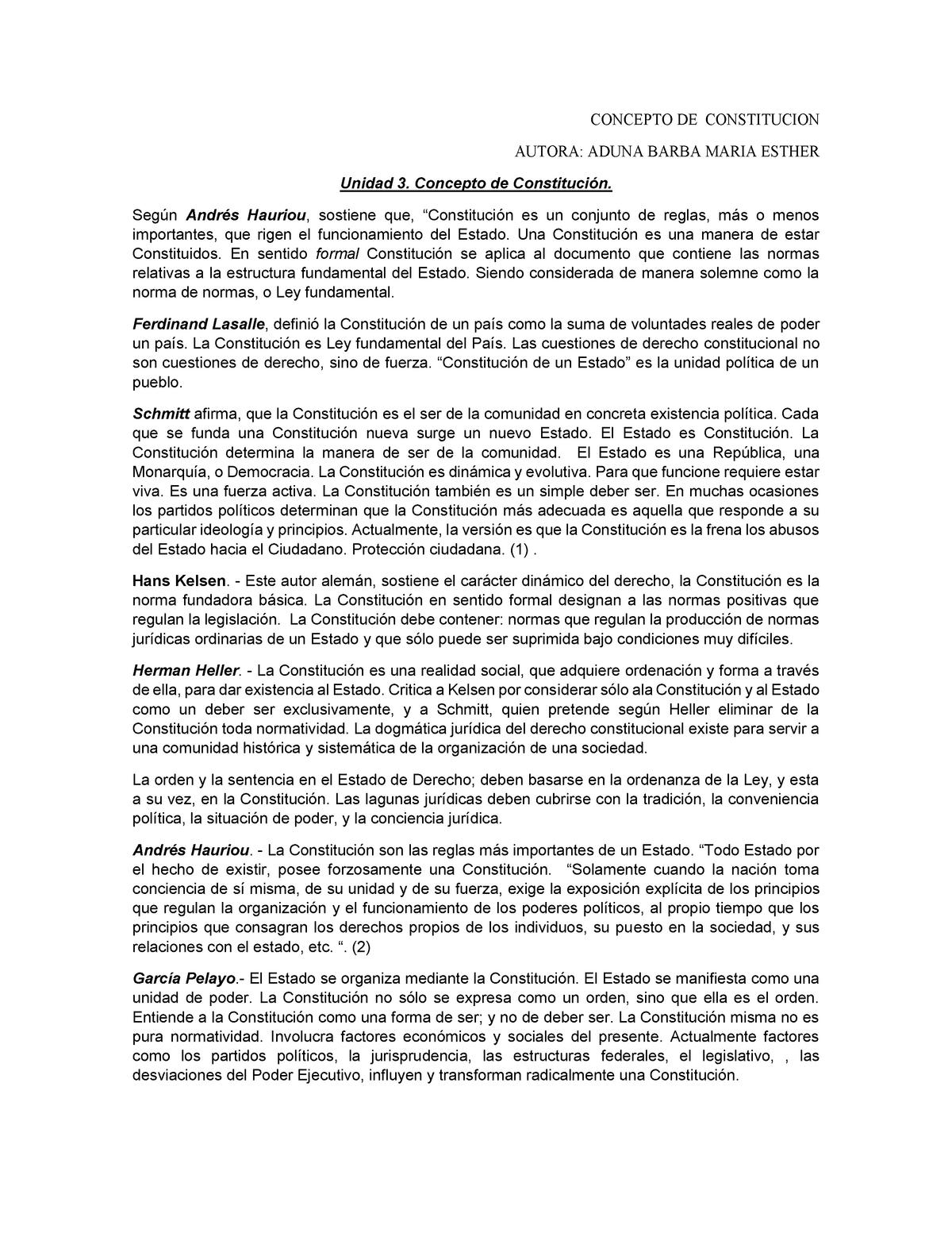 Concepto De Constitucion Mpep001204 Uem Studocu