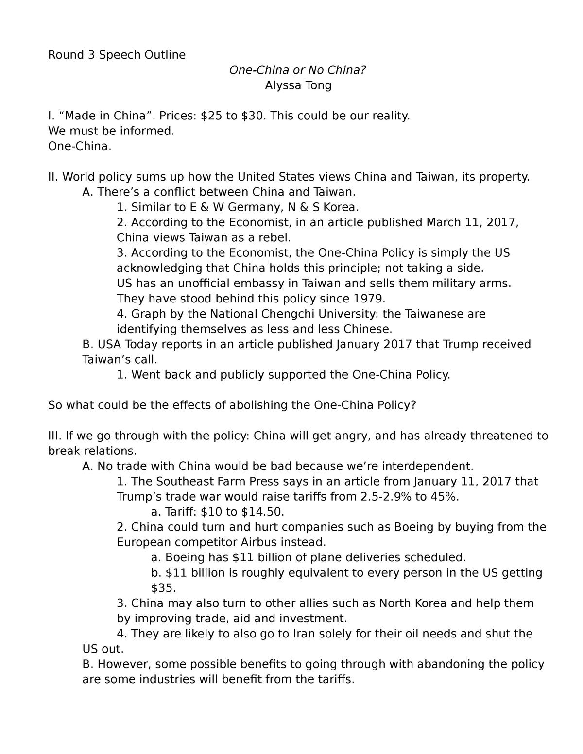 Round 3 Keyword Outline Cmn 101 Studocu
