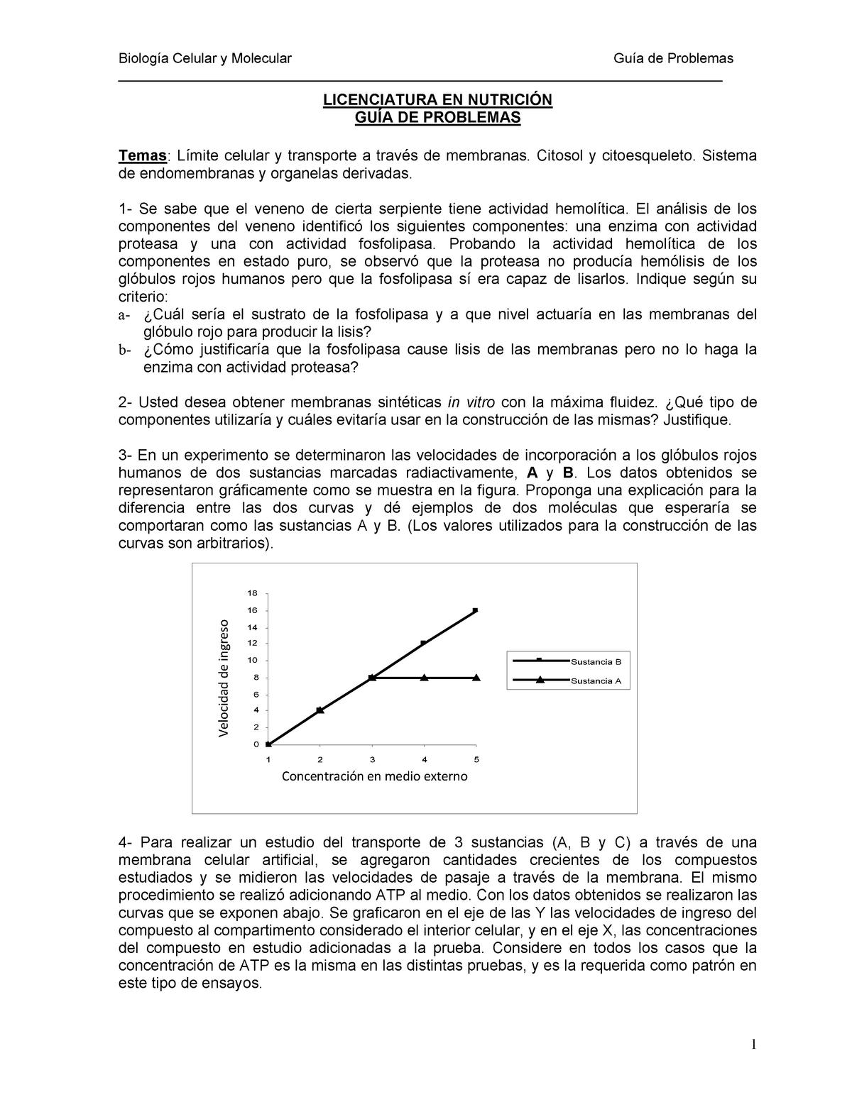 Guía De Problemas 1ra Parte 993 Biología Celular Y Molecular