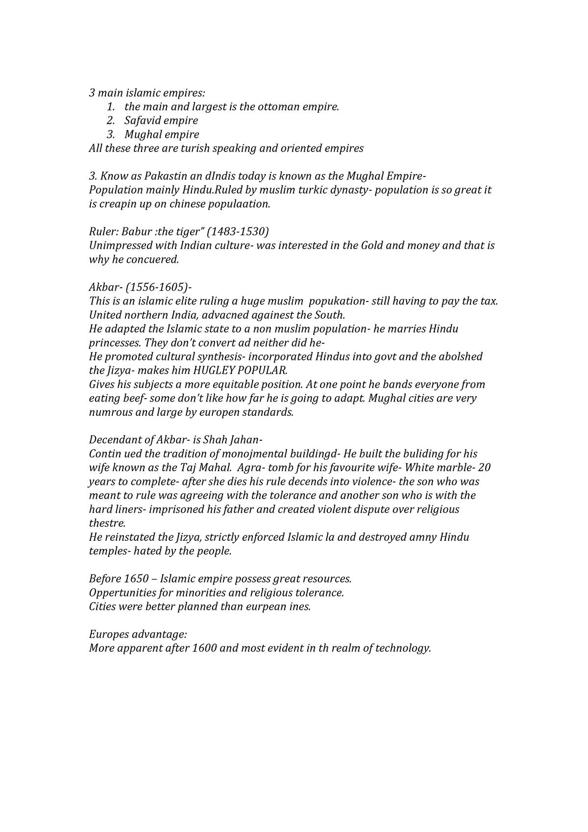 Side Notes HIST 228 - short summary - HIST228 - StuDocu
